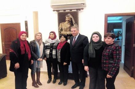 زيارة السفير الفلسطيني أشرف دبور