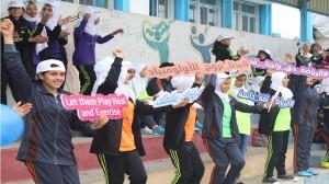 طاقم شؤون المرأة ينظم فعالية الحفل الختامي لمشروع رياضة من أجل فتيات فلسطين